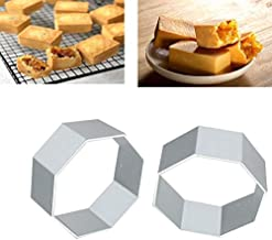 Generic Hexagon Shape Alloy Metal Mold Mousse Ring Cookie Fondant Cake Decorating Moulds DIY Baking Tools Biscuit Sugar Cr...