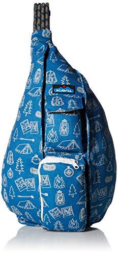 KAVU Rope Bag Shoulder Sling Cotton Crossbody Backpack - Diamonds