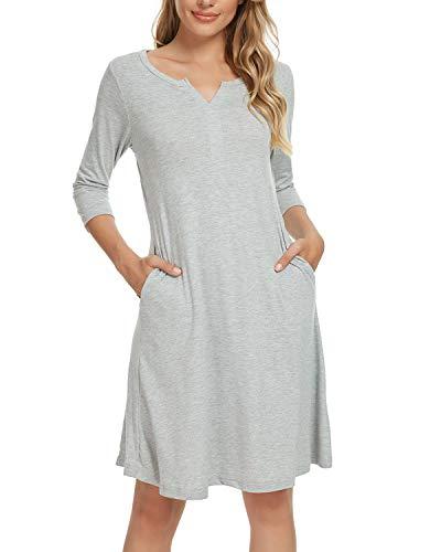 MINTLIMIT Nachthemd Damen Kurzarm gr.48-50 Grau XXL