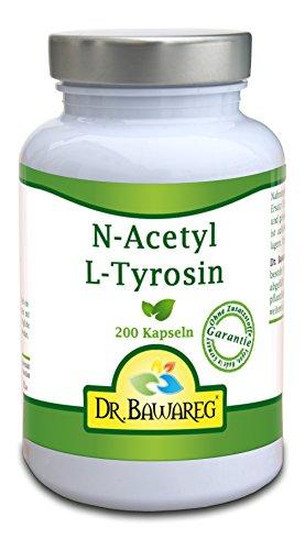 N-Acetyl L-Tyrosin - 200 Vegi-Kapseln je 500mg - ohne Zusätze - Dr. Bawareg