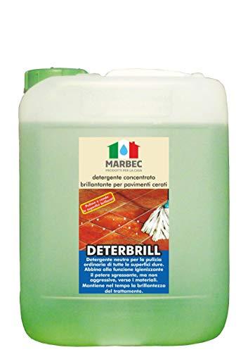 Marbec–Deterbrill - Detergente concentrado abrillantador para suelos de baldosas de barro cocido y piedra encerados