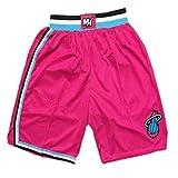 GXHUI Maglia NBA Uomo Miami Heat # 3 Pantaloncini da Basket Wade Pantaloncini Sportivi Traspiranti ad Alta Elasticità ad Asciugatura Rapida