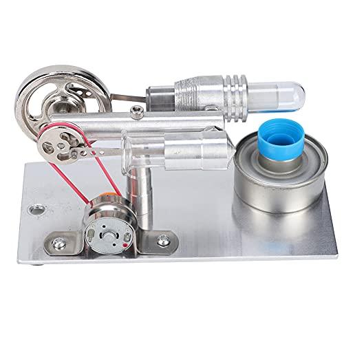 Ventilador tipo T Dgtrhted, motor Stirling, generador de energía de aire caliente en miniatura, modelo de enseñanza de laboratorio de física