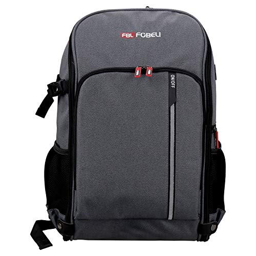 FBLFOBELI Travel Laptop Backpack,Business Anti Theft Slim Durable Laptops Backpack,Water Resistant College School Computer Bag with LED Light Fits 17 Inch Laptops, Best Gifts for Men & Women
