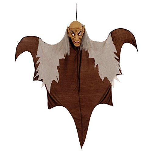 Amakando Zombie décoration à Suspendre fantôme Vieil Bonhomme Effrayant 140 cm Mannequin décoration intérieure Horreur fête Halloween