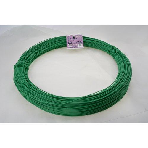 八幡ねじ カラー針金 緑 番手#18×1kg 178m