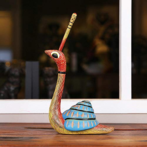 Statues Statue Sculpture American Pastoral Style Painted Imitation Wood Creative Snail Reptile-Home Decorating Crafts-A
