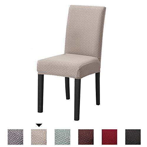 PETCUTE Fundas para sillas de Comedor Universal Protectores de sillas de Cocina Fundas para sillas…