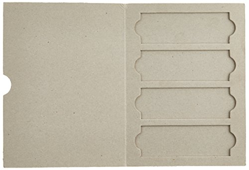 Globe Scientific 513004 Cardboard Slide Mailer for 4 Slide (Case of 50)