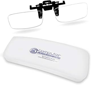 ClipOn Computer Reading Lens For Bifocal Age Desktop PC Users: New Half Clip Design® is Lighter weight ClipOn/FlipUp; Clip Magnification STOPS Headaches and Eyestrain; Anti-glare Blue Blocker Coating.