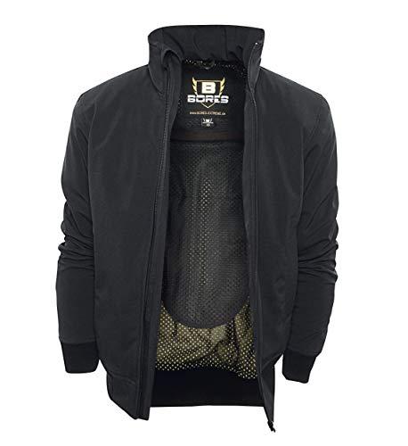 Bores Safety 1 Softshell-Jacke, Wasserabweisend, Reißfest, Schwarz, Größe L