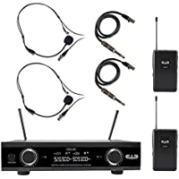 CAD GXLD2BB Dual-Channel Digital Wireless Microphone System with Headsets and Guitar Cables (AI: 909 to 927 MHz)
