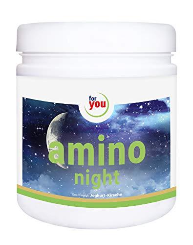 for you amino night I Nahrungsergänzungsmittel mit GABA und Lavendel I Pulver 391g Joghurt-Kirsche