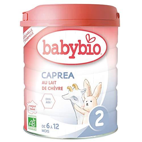 Babybio - Lait Infantile - Caprea 2ème Âge - 800g - Au lait de chèvre - dès 6 Mois - BIO - Fabriqué en France - Sans Huile de Palme