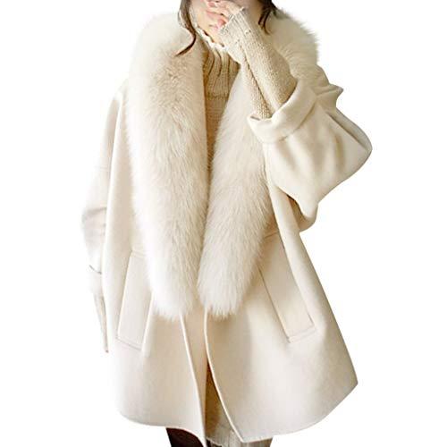 Vrouwen Plus Size Winterjas Faux Wollen Trench Jassen Dikker Warm Slim Fleece Jas Dames Warm Windbreaker Lange Mouw Vest Top Bovenkleding Overjas