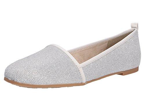 Tamaris Damen 24668 Slipper, Silber (Silver Glam), 36 EU