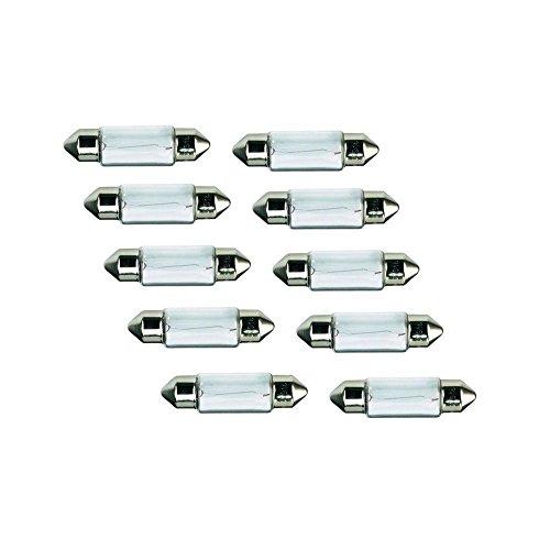 10x Kummert Business Glühlampe Halogen C10W Soffitte 36mm 10W 12V PKW Innenraum, Kennzeichenbeleuchtung