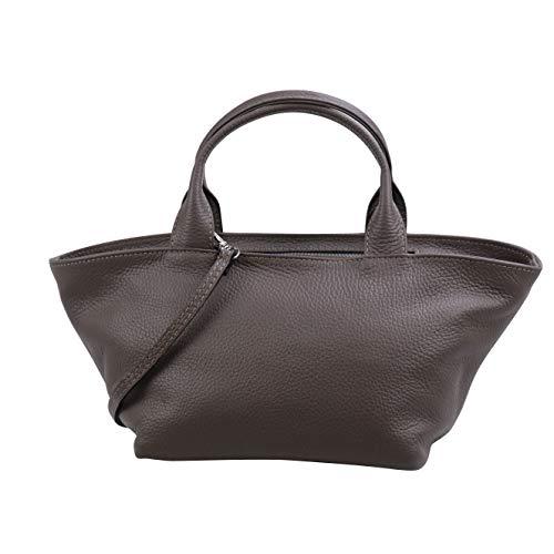 SH Leder Echtleder Handtasche leichte Umhängetasche aus Genarbte Rindeder 36x15cm Luisa G495...
