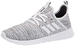 in budget affordable Adidas Cloudfoam Pure Women's Sneakers, White / White / Black, 7 Medium US