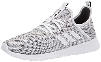 adidas Women s Cloud foam Pure Running Shoe white/white/black 8 Medium US