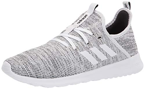 adidas Women's Cloud foam Pure Running Shoe, White/White/Black, 8.5 US