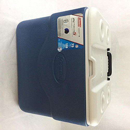 Coleman 50 Quart Xtreme 5 Wheeled Cooler-Newly Designed Dark Blue