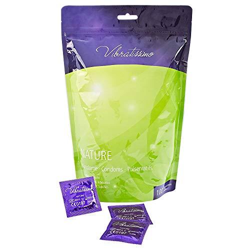 Vibratissimo® Nature 100 Kondome aus Latex 53mm Gefühlsecht, Sicher, Reißfest