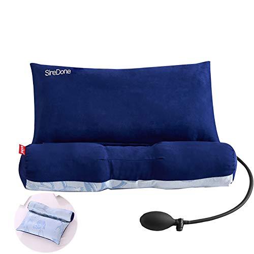 ClothHouse Cassia Almohada Cervical Reparación Espina Cervical Adulto Especial para Dormir Cuello Almohada Corrección Almohada Núcleo Redondo,Blue
