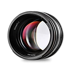 ✔ Large Aperture - designed with high quality multi-coated optical glass. Exquisite body features amazing maximum aperture of F1.1, which creates fascinating background blur effect and sharper image quality. No worries about the low-light & night sce...