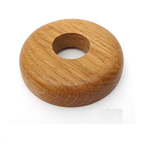 Solid Oak Pipe Collar/Radiator Ring/Pipe Rose Finished