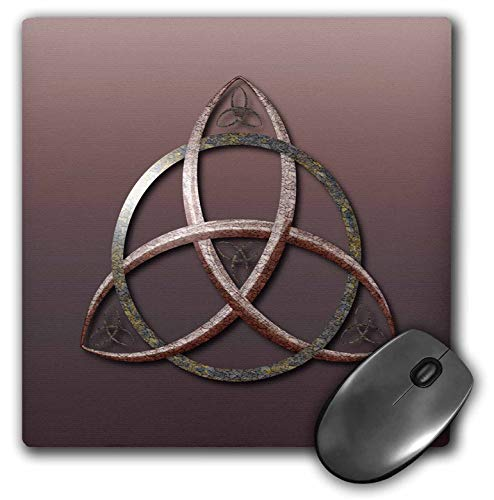 3dRose A Stone Textured Triquetra Celtic Trinity Knot Symbol. - Mouse Pads (mp_333408_1)
