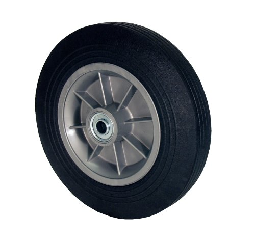 RWM Casters SN2 Hand Truck Wheel with Solid Rubber Tire and Polypropylene Hub, 8' Diameter, 2' Width, 5/8' Axle Hole Diameter, 440 lb. Capacity