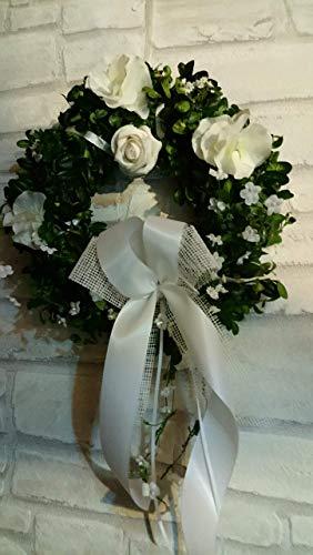 Buchskranz frisch ab 30cm Kommunionskranz Konfirmationskranz Hochzeit frisch in 3 Größen
