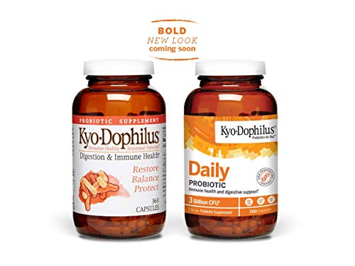 Kyo-Dophilus Daily Probiotic, Immune and Digestive Support, 360 capsules (Packaging may vary)