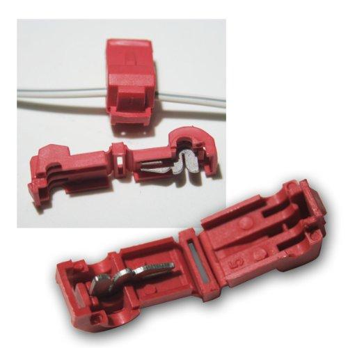 world-trading-net 10 Abzweigverbinder für Kabelschuhe ROT 0,5-1,5mm²