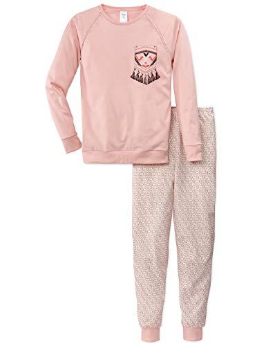 Calida Mädchen Girls Ethno Zweiteiliger Schlafanzug, Rosa (Lotus 181), (Herstellergröße: 152)