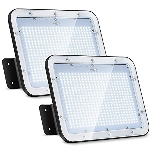 DuuToo [2Pack] 150W LED Flood Light, 17500lm Super Bright Security Lights, IP66 Waterproof Outdoor FloodLight, 5000K Daylight White Floodlight for Yard, Garden, Playground, Basketball Court