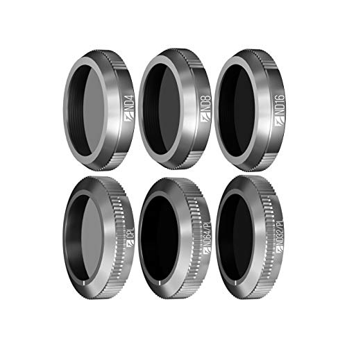 Freewell Kit di budget-E Series - 6Pack ND4, ND8, ND16, CPL, ND32/PL, ND64/PL Camera Lens Filtri Compatibile con DJI Mavic 2 Zoom/Enterprise