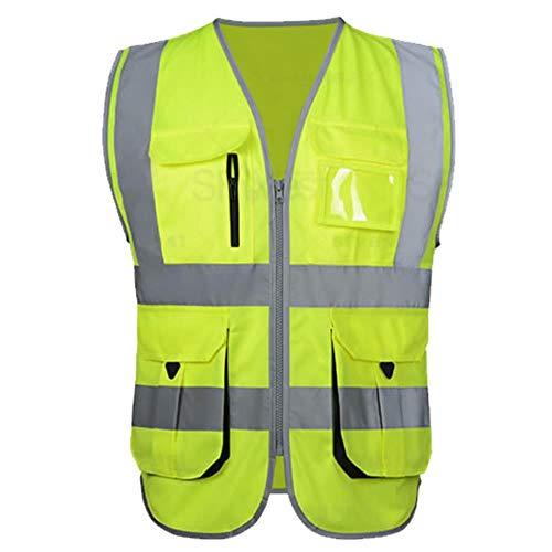 Reflecterend vest waarschuwingsvest oranje veiligheidsvest werkkleding veiligheidsvest constructie veiligheidsvest met logo XXL-Chest130cm geel