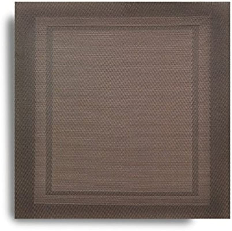 Harman Set Of 2 Lustre Square Vinyl Placemat Wipes Clean 14 Square Brown