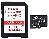 BigBuild Technology - Tarjeta de memoria para tablet Huawei MediaPad T5, clase 10 MicroSDXC (64 GB, 80 MB/s/s, ultrarrápida)
