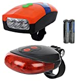 Dark Horse Bicycle 3 LED 3 Mode Front Light & Horn & 2