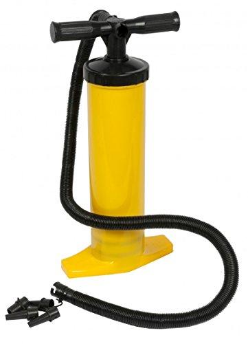 Doppelhubpumpe / Handpumpe Doppel-Hub, mit Standfuß, für Luftmatratze Wasserball, Pool, Luftpumpe