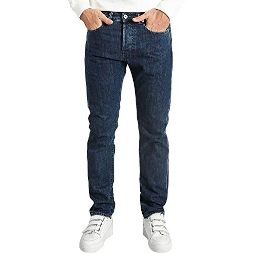 Edwin ED-80 Kingston Blue Denim Slim Tapered Topias Wash Jeans - 32