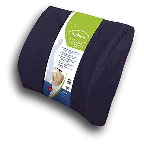 Thalway Best Lower Back Pain Cushion Lumbar Support Seat Cushion Pillow