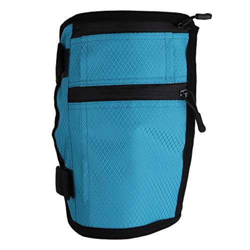 Baoblaze Sac de Sport Bande de Jambe Support pour Téléphone Portable - Bleu, 19,5 cm