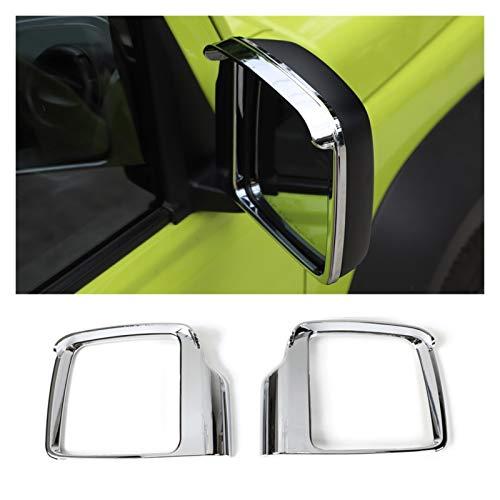 MIAOXIAO Seedling Store Accesorios para automóviles Chrome Vista Trasera Espejo Lluvia Lluvia Marco de Ajuste Ajuste para Suzuki Jimny 2019+ (Color : Silver)