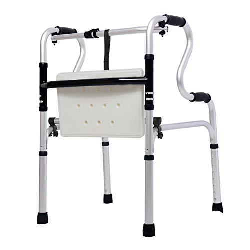 SXFYGYQ Walking Frame 8-Gear Rehabilitatiehouder, multifunctioneel, draagbaar, in hoogte verstelbaar met Walk Board