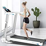 Us Fast Shipment Folding Treadmills for Home Office Gym Sport, Smooth Electric Motorized Running Machine Slimming Walking with 2.0Hp LCD Display,Smart Touch Screen,Safty Handle,Free Stand,Save Space