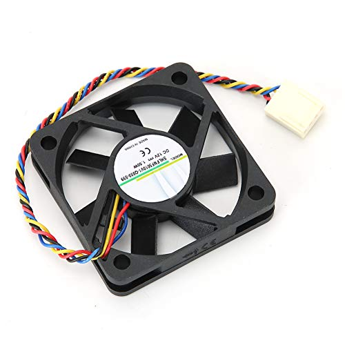 Ventilador Enfriador 5CM 12V 1.50W 4PIN Disipador de Calor en Sentido antihorario, Sistema de enfriamiento de Ventilador de Menor Ruido para Marco de moldeo por inyección SHLFM5010V1-Q000-S99